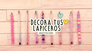 5 IDEAS PARA DECORAR TUS BOLÍGRAFOS O LAPICEROS | miniDIY |#BackToSchool |COOKIES IN THE SKY