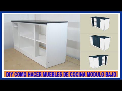 Como hacer muebles de cocina Módulo bajo de cocina en melamina How to make kitchen cabinets