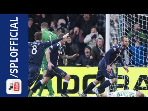 Steffen Wohlfarth Goal After Defensive Mix Up, Ross County 3-2 Celtic, 09/03/2013