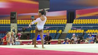 Simone Biles - floor - podium training DOHA