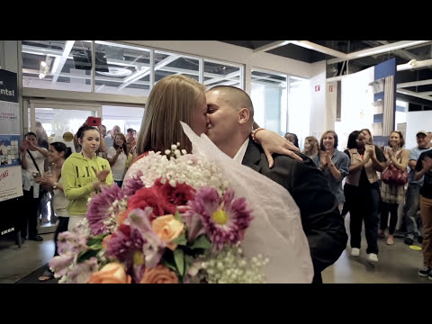 Flash Mob Marriage Proposal at IKEA Sunrise