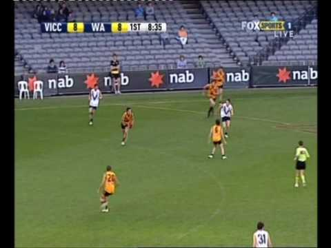 afldraftinfo.com - David Swallow vs Vic Country - 2009 AFL U18 Championships