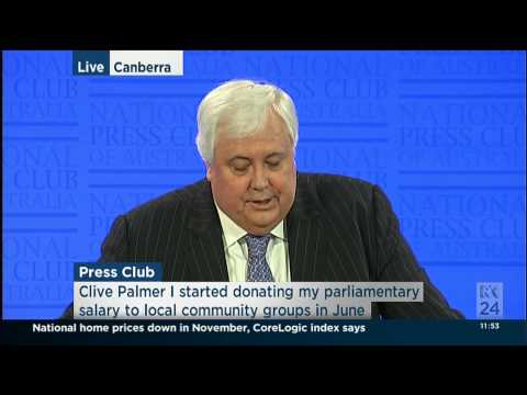 Clive Palmer - The Palmer United Year in Review - FULL SPEECH. Dec 01 2014