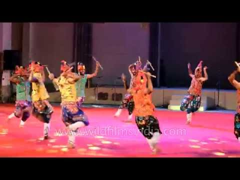 Gujarati folk dancers perform Garba dance in Manipur: East meets West!
