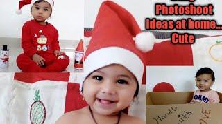 creative Baby Photoshoot at home Ideas