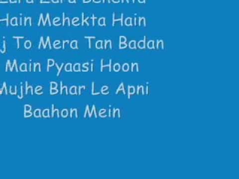 Rehna Hai Tere Dil Mein - Zara Zara Lyrics video