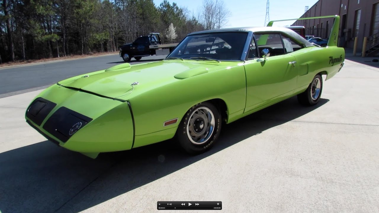 1970 Plymouth Road Runner Superbird Start Up Exhaust And