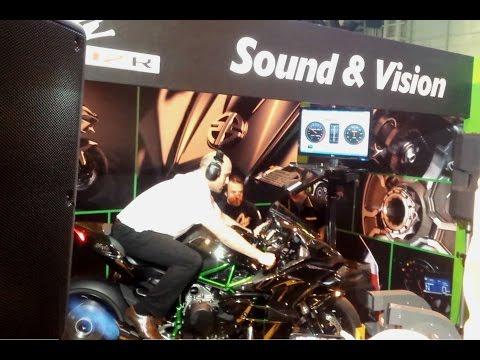 Kawasaki Ninja H2 R on the dyno at Motorcycle Live