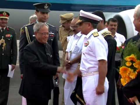 Pravasi Bharathiya Divas - Indian President Shri.Pranab Mukherjee arrived at Kochi Airport