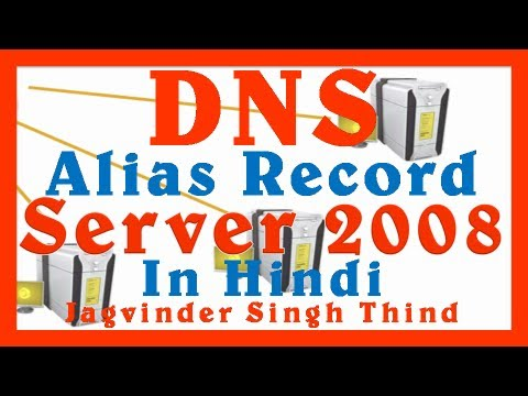 DNS Alias Record in Hindi - DNS Server 2008 Part 9