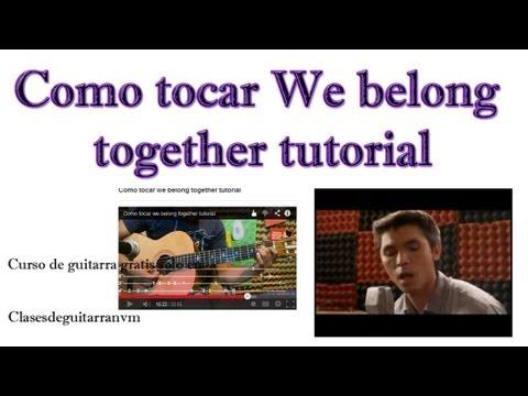 Como tocar we belong together tutorial'][0].replace('