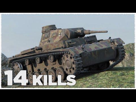 Pz.Kpfw. III Ausf. E • 14 KILLS • Raseiniai Heroes' Medal • WoT Gameplay
