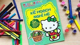 Đồ chơi DÁN HÌNH MÈO HELLO KITTY & kể chuyện Kế hoạch nghỉ hè Hello Kitty Toys for kids (Chim Xinh)