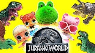 LOL Surprise Dolls go to Jurassic World! Starring Gogo Girl, Teachers Pet and Angel!