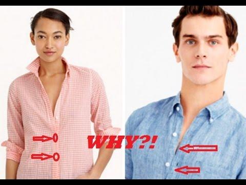 Womens shirt buttons left Mens shirt buttons right Why?