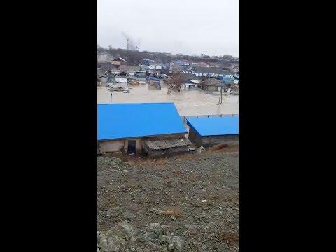 Хроника потопа Усть-Каменогорска  дождевыми  и талыми водами. Все за сегодня.