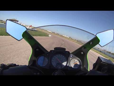 Stacy Fales On Her Ninja 250r At H P T