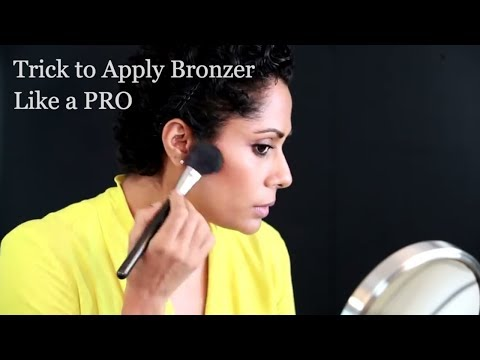 How To Apply Bronzer Properly - Tutorial by Pallavi Symons   Makeup Basics - Glamrs