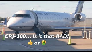 Is the CRJ-200 Really That BAD? | United Express IAD to PHL | ECONOMY