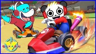 VTubers Combo Panda Vs. Big Gil Let's Play Mario Kart 8 Best Racing Game Ever