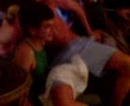 Haroun gets male lap dance - corfu 07