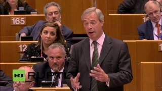 Belgium: Nigel Farage speaks to the European Parliament - FULL SPEECH