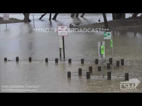 02-20-2017 Sacramento, California River Flooding - Structures Under Water