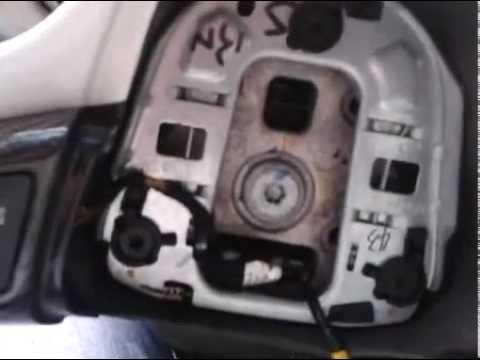 Видео как снять руль с подушкой