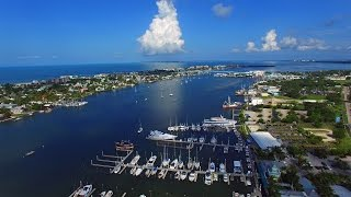 Aerial Video of Matanzas Harbor and Matanzas Pass Bridge - Fort Myers Beach, FL