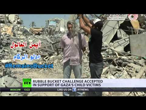 #RubbleBucketChallenge: Palestinians' dry response to #icebucket