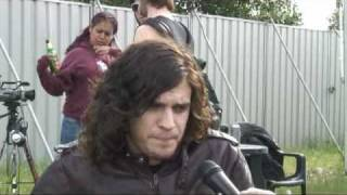 Backstage at Download 2008 with Fall Of Troy's Thomas Erak
