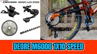 SHIMANO DEORE M6000 10 SPEED 1X CONVERSION  *3X8 TO 1X10*