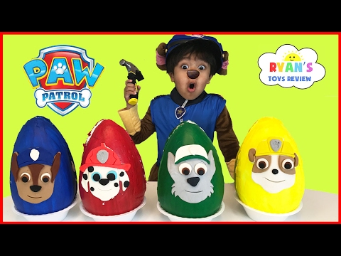 Paw Patrol Play Doh Surprise Eggs Toys for Kids! Chase Marshall Rubble Kids Costume