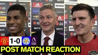 Solskjaer, Rashford & Maguire reflect on Leicester win | Manchester United | Post Match Reaction