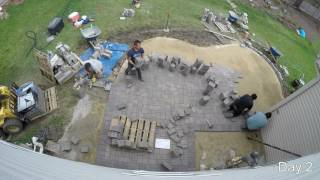 Our patio construction in under 7 mins.