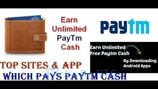 Unlimited FREE PAYTM CASH Earn From android apps, TOP 5 APPS ever 2017 (Hindi) 🤑