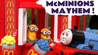 Minions McDonalds Drive Thru with Play Doh Stop Motion Thomas and Friends Surprise Eggs TT4U