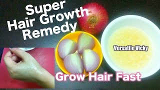 Hair Growth Remedy / Onion Juice for Hair Growth / Onion for Grey Hair