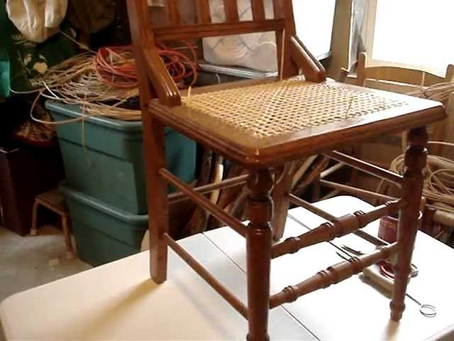 Chair Caning Tip -- Work Table Height