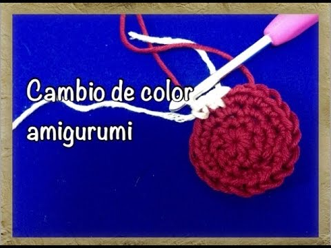 cambiar color amigurumi/Color change amigurumi crochet ...