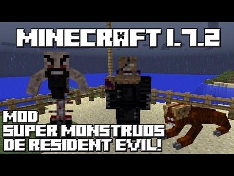 Minecraft 1.7.2 MOD SUPER MONSTRUOS DE RESIDENT EVIL!