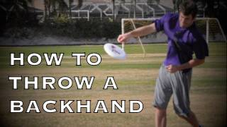 How To Throw A Backhand | Brodie Smith