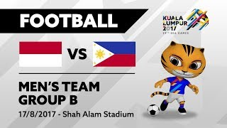 KL2017 29th SEA Games | Men's Football - INA 🇮🇩 vs PHI 🇵🇭