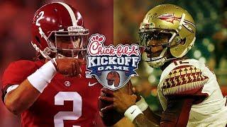 2017 Alabama Crimson Tide vs Florida State Seminoles - Chick-Fil-A Kickoff - Full Game Simulation