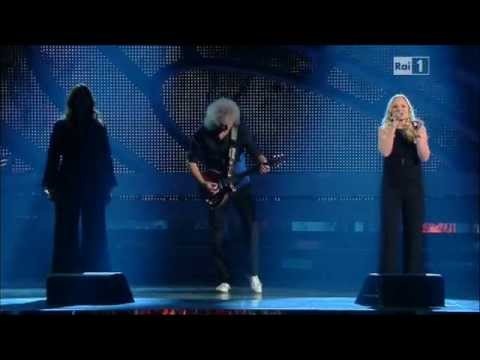 Brian May Ft. Kerry Ellis&Irene Fornaciari - I Who Have Nothing @Sanremo 16/02/2012