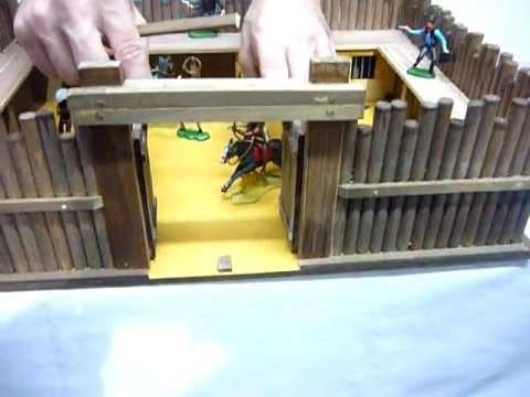 Fuerte de madera de juguete para soldaditos youtube for Bar casero de madera