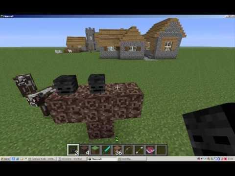 Como Invocar a Un Esqueleto Wither En Minecraft