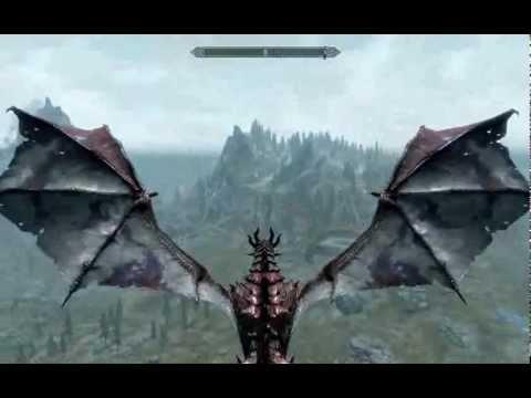 Видео как стать драконом скайрим