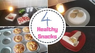 4 Healthy and easy-to-make snacks