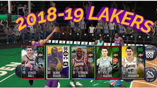 2018-19 Los Angeles's Lakers NBA LIVE MOBLIE - THEME TEAM LINEUP